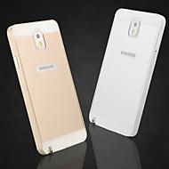 специальная конструкция крышки сплошной цвет металла назад и бампер для Samsung Galaxy Примечание 3