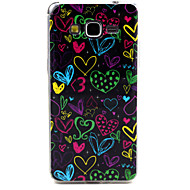 Для Кейс для  Samsung Galaxy С узором Кейс для Задняя крышка Кейс для С сердцем TPU Samsung Grand Prime