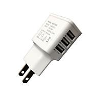 billige -Oplader til hjemmet Lille og mobil oplader Telefon USB oplader EU Stik Multiporte 3 USB-porte 3A AC 100V-240V til iPad Til mobiltelefon
