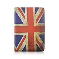Χαμηλού Κόστους Θήκες/Καλύμματα για iPad-7,9 ιντσών 360 μοιρών μοτίβο της σημαίας περιστροφής PU δερμάτινη θήκη με βάση και στυλό για μίνι iPad 1/2/3