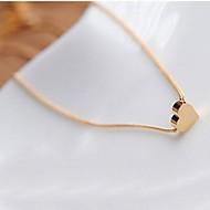 Недорогие $0.99 Модное ювелирное украшение-Жен. Ожерелья с подвесками - Сердце, Любовь Простой стиль Золотой Ожерелье Бижутерия Назначение Свадьба, Для вечеринок, Подарок
