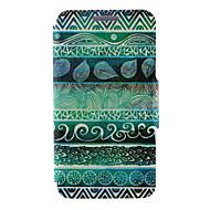 Для Кейс для Huawei / P8 / P8 Lite Бумажник для карт / Флип Кейс для Чехол Кейс для Геометрический рисунок Твердый Искусственная кожа