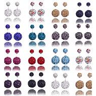 Sitne naušnice Klasika Zircon Umjetno drago kamenje 9 10 11 12 13 Jewelry Za Vjenčanje Party Dnevno Kauzalni Sport 1pc