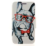 Недорогие Чехлы и кейсы для Galaxy A8-Кейс для Назначение SSamsung Galaxy Кейс для  Samsung Galaxy Бумажник для карт / со стендом / Флип Чехол С собакой Кожа PU для A8 / A7 / A5