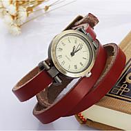 halpa Hippityyliset kellot-Naisten Quartz Rannekello Rannerengaskello Arkikello Nahka Bändi Vintage Boheemi Valkoinen Sininen  Punainen  Oranssi Ruskea  Vihreä