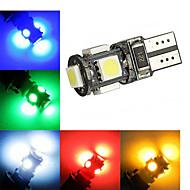 tanie Inne świetlenie LED-2W T10 Oświetlenie dekoracyjne 5 Diody lED SMD 5050 120-150lm Zimna biel Czerwony Niebieski Żółty Zielony Dekoracyjna DC 12