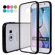 Недорогие Чехлы и кейсы для Galaxy S-Для Кейс для  Samsung Galaxy Матовое / Полупрозрачный Кейс для Задняя крышка Кейс для Один цвет PC Samsung S6