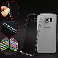 Для Кейс для  Samsung Galaxy Прозрачный Кейс для Задняя крышка Кейс для Один цвет PC Samsung S6 edge