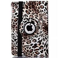 billige Etuier og covers til iPad-leopard print pu læder 360 ⁰ sager / smart dækker ipad 2 / ipad 3 / ipad 4