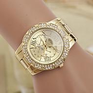 yoonheel 女性用 ファッションウォッチ ダミー ダイアモンド 腕時計 模造ダイヤモンド スイスの デザイナー クォーツ 金属 バンド ゴールド