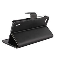 Для Кейс для Huawei Кошелек / Бумажник для карт / со стендом / Флип Кейс для Чехол Кейс для Один цвет Твердый Искусственная кожа Huawei