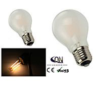 E26/E27 LED Globe Bulbs A60(A19) 6 COB 600lm Warm White 2800-3200K Dimmable AC 220-240 AC 110-130V