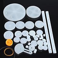 34 tipos de engranajes de plástico robot engranaje del motor piezas del kit de modelo de bricolaje