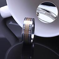 presente personalizado anel unisex de aço inoxidável gravado jóias