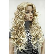 Недорогие Парики-Парики из искусственных волос Боковая часть Волосы с окрашиванием омбре Блондинка Карнавальный парик Парик для Хэллоуина Черный парик