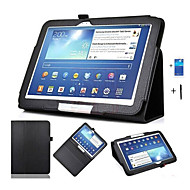 pu lederen case cover voor Samsung Galaxy Tab 10.1 3 p5200 p5210 p5220 tablet 10,1 inch + screen protector + pen