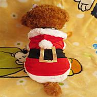 お買い得  -犬 パーカー 犬用ウェア ホワイト / レッド テリレン コスチューム ペット用 男性用 / 女性用 クリスマス