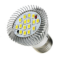 E26/E27 Spot LED 16 diodes électroluminescentes SMD 5630 Blanc Froid 520-550lm 6000-6500K AC 85-265V