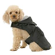 hesapli Ev Sakinleri ve Evcil Hayvanlar-Köpek Yağmur Paltoları Köpek Giyimi Solid Siyah Kırmzı Mavi Naylon Kostüm Evcil hayvanlar için Erkek Kadın's Su Geçirmez