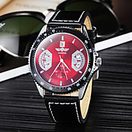 Недорогие Фирменные часы-Мужская календарь Функция Auto-механический сталь круглый циферблат PU Группа Кварцевые аналоговые наручные часы (черный)