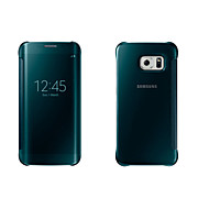 For Samsung Galaxy Case with Windows / Auto Sleep/Wake / Mirror / Flip Case Full Body Case Solid Color PC for SamsungS7 edge / S7 / S6