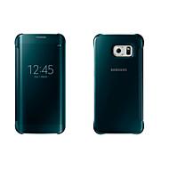 Недорогие Чехлы и кейсы для Galaxy S7-Кейс для Назначение SSamsung Galaxy Кейс для  Samsung Galaxy с окошком / С функцией автовывода из режима сна / Зеркальная поверхность Чехол Однотонный Мягкий ПК для S8 Plus / S8 / S7 edge