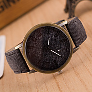 Women European Style Fashion New Imitation Canvas Jeans Leather Watch Cool Watches Unique Watches Strap Watch