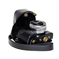 abordables Accesorios de Portátil-dengpin pu cámara de cuero cubierta de la bolsa caso para sony ILCE-6000L A6000-ILCE 6000 con lente de 16-50mm (colores surtidos)