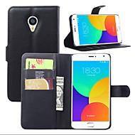 Χαμηλού Κόστους ΘΗΚΕΣ ΤΗΛΕΦΩΝΟΥ-λίτσι γύρω από το ανοικτό στήριγμα τηλέφωνο δέρμα πορτοφόλι κάρτα κατάλληλη για Meizu ΜΧ4 pro (διάφορα χρώματα)