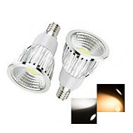 olcso LED szpotlámpák-E14 LED szpotlámpák 1 led COB Meleg fehér Hideg fehér 50-150lm 2800-3500/6000-6500K AC 220-240V