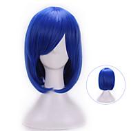жен. Парики из искусственных волос Без шапочки-основы Естественные волны Синий С чёлкой Карнавальный парик Парик для Хэллоуина