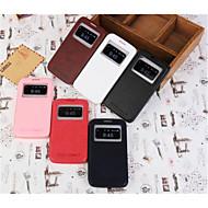 искусственная кожа Специальная конструкция кузова открыть случай окно для Samsung Galaxy Grand 2 g7106 (ассорти цветов)