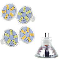 olcso LED szpotlámpák-5 db. Ding Yao 7 W 15 SMD 5730 400-500 LM 2800-3500/6000-6500 K Meleg fehér/Hideg fehér MR11 Szpotlámpa AC 12 V