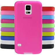 Para Funda Samsung Galaxy Antigolpes Funda Cubierta Trasera Funda Un Color Silicona Samsung S5