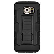 voordelige Galaxy S5 Mini Hoesjes / covers-Voor Samsung Galaxy hoesje Schokbestendig / met standaard hoesje Achterkantje hoesje Pantser PC SamsungS7 edge / S7 / S6 edge plus / S6