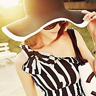 Недорогие Головные уборы-Для женщин Для женщин На каждый день Соломенная шляпа , Лён/Соломка , Лето