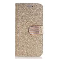Недорогие Чехлы и кейсы для Galaxy S6 Edge Plus-Для Кейс для  Samsung Galaxy Бумажник для карт / Кошелек / Стразы / со стендом / Флип Кейс для Чехол Кейс для Сияние и блескИскусственная