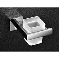 お買い得  -トイレブラシホルダー コンテンポラリー ステンレス鋼 / ガラス 1枚 - ホテルバス