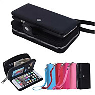 Etui Til Apple iPhone 6 Plus / iPhone 6 Lommebok / Kortholder Heldekkende etui Ensfarget Hard PU Leather til iPhone 7 Plus / iPhone 7 / iPhone 6s Plus
