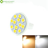 5W GU4 (MR11) LED-spotlampen MR11 12 leds SMD 5060 Dimbaar Decoratief Warm wit Koel wit Natuurlijk wit 3500/6000/6500lm 3500K  6000K 6500K