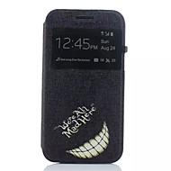 Недорогие Чехлы и кейсы для Galaxy J1-Кейс для Назначение SSamsung Galaxy Кейс для  Samsung Galaxy со стендом с окошком Флип Чехол Слова / выражения Кожа PU для J1
