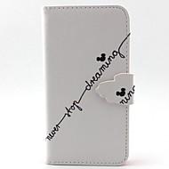 Недорогие Чехлы и кейсы для Galaxy А-Кейс для Назначение SSamsung Galaxy Кейс для  Samsung Galaxy Бумажник для карт со стендом Флип Магнитный С узором Чехол Слова / выражения