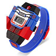 Недорогие Фирменные часы-SKMEI Муж. Наручные часы Кварцевый Календарь ЖК экран Pезина Группа Цифровой Мультяшная тематика Синий / Красный / Серый - Желтый Красный Синий Два года Срок службы батареи / Maxell626 + 2025