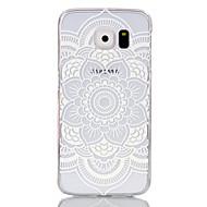 Недорогие Чехлы и кейсы для Galaxy S-Кейс для Назначение SSamsung Galaxy Кейс для  Samsung Galaxy Прозрачный Кейс на заднюю панель Мандала ПК для S6 edge S6 S5 Mini S5 S4
