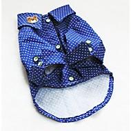 お買い得  -犬 Tシャツ 犬用ウェア 水玉 / 波点 ブルー コットン コスチューム ペット用 夏 女性用 ファッション