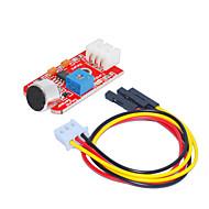 お買い得  Arduino 用アクセサリー-音センサー(赤)3ピンデュポンワイヤーと1穴白端末