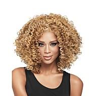 Недорогие Парики-Парики из искусственных волос Кудрявый Glueless Парик в афро-американском стиле Без шапочки-основы Жен. Блондинка Парик из натуральных