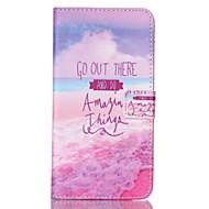 Кейс для Назначение SSamsung Galaxy Samsung Galaxy Note Кошелек Бумажник для карт со стендом Флип Чехол Слова / выражения Искусственная