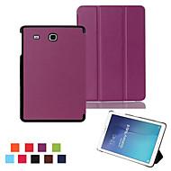 För Samsung Galaxy-fodral med stativ Lucka Origami fodral Heltäckande fodral Enfärgat PU-läder för Samsung Tab E 9.6 Tab A 9.7 Tab A 8.0