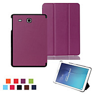 Til Samsung Galaxy Etui med stativ Flipp Origami Etui Heldekkende Etui Ensfarget PU-lær til Samsung Tab E 9.6 Tab A 9.7 Tab A 8.0